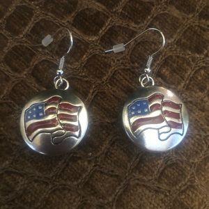 Jewelry - America Flag Earrings